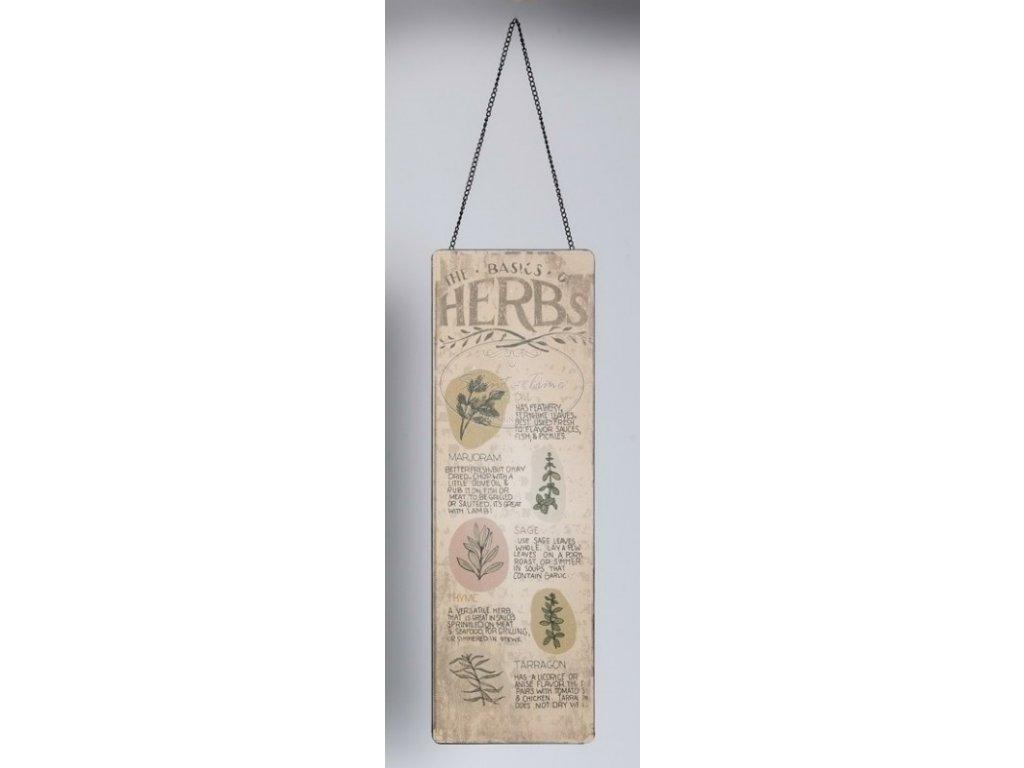 Plechová cedule HERBS 2