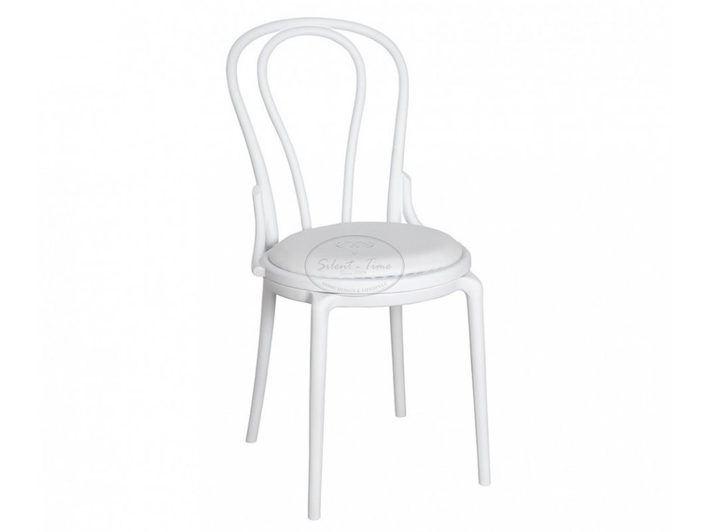 Židle zahradní plast No.14 bílá