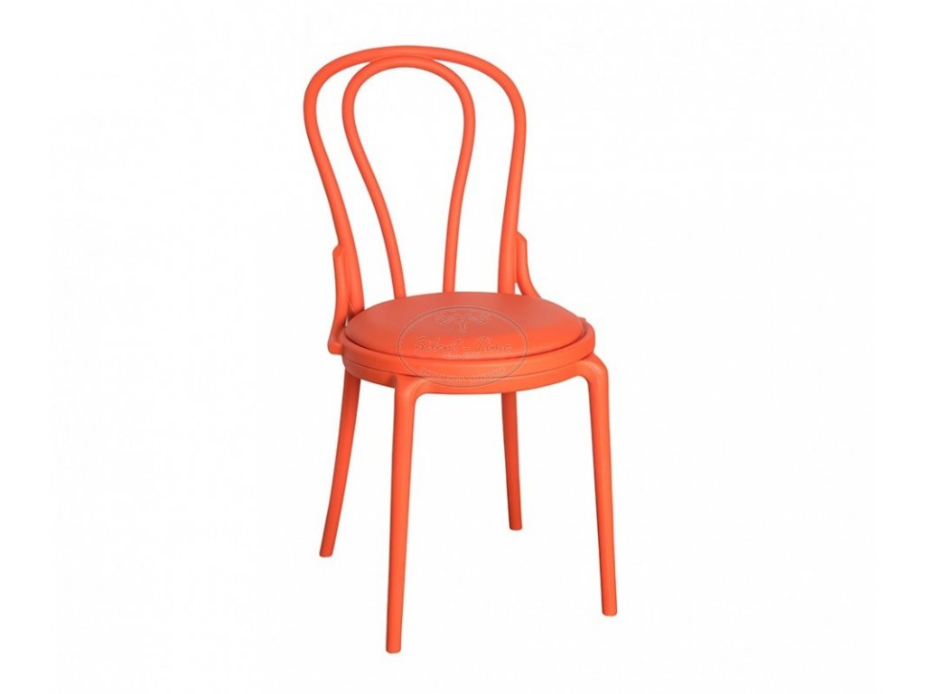 Židle zahradní plast No.14 oranžová