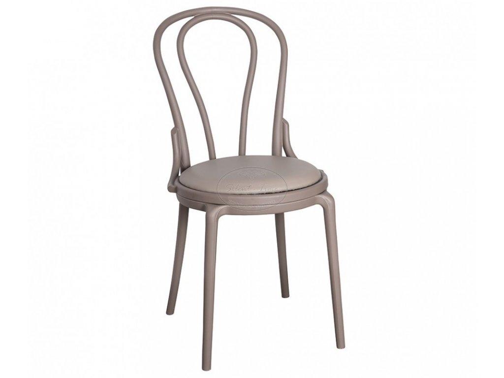 Židle zahradní plast No.14 béžová