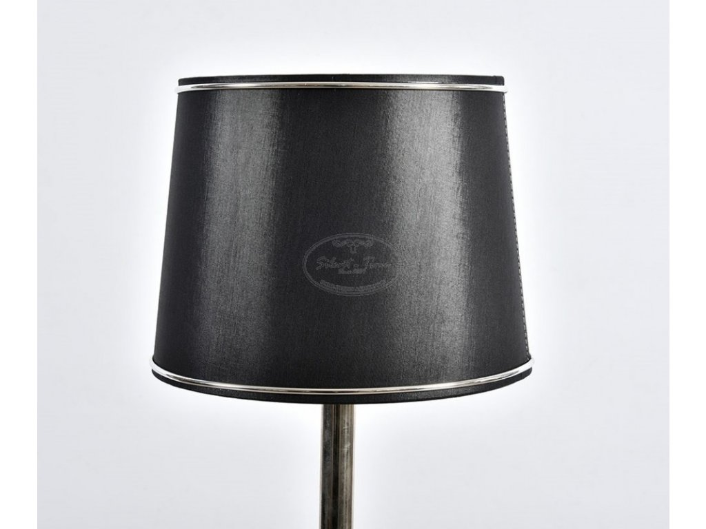 Látkové stínidlo DECCO černá/stříbrná