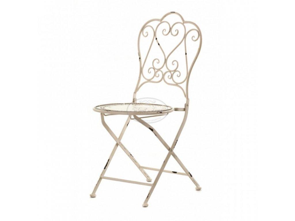 Kovová židle VILAGE CREME