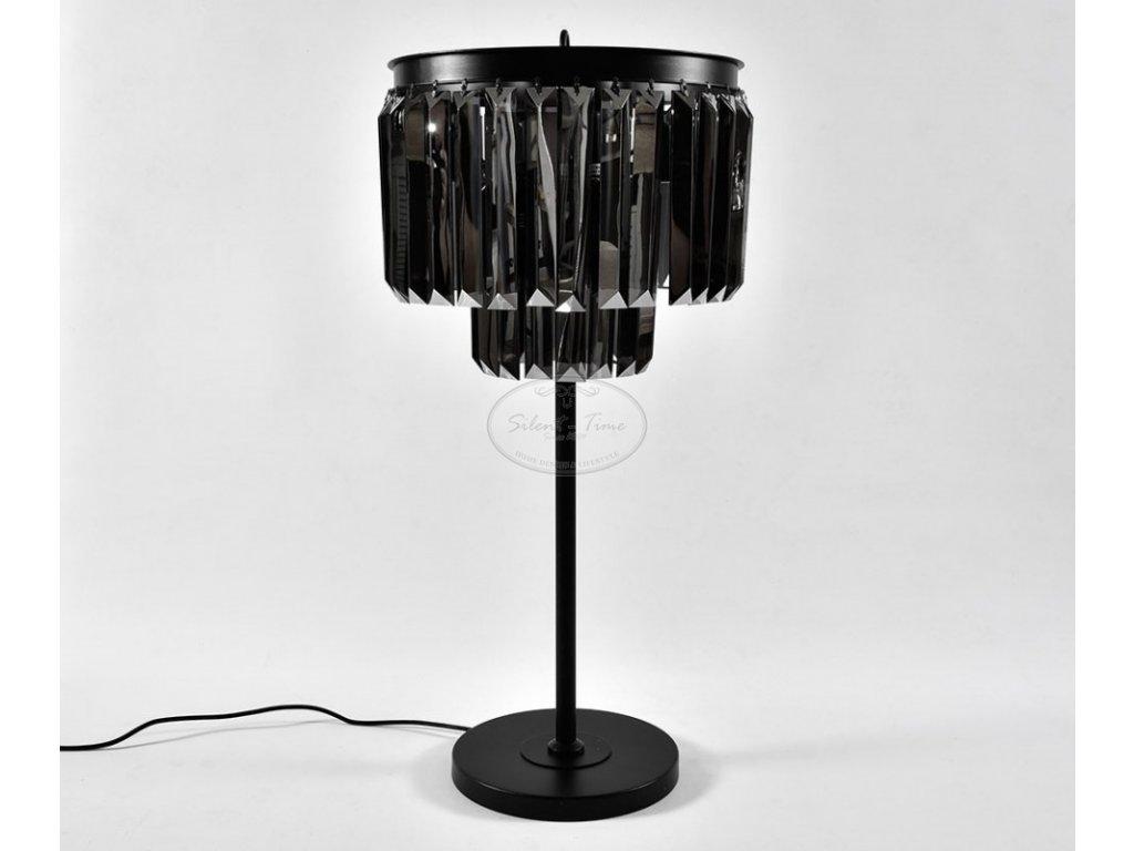 Stolní lampa křišťálová GLAMOUR GREY 1