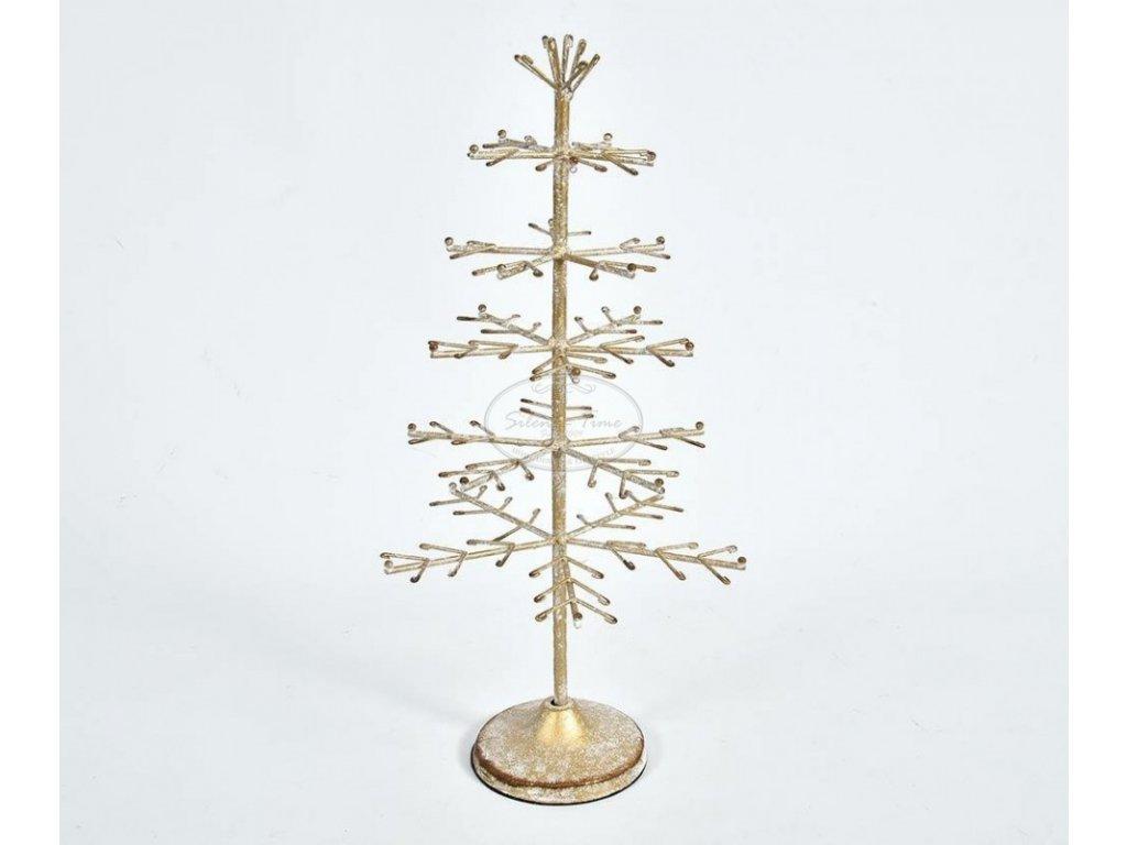 Zlatý stromek kovový XMAS