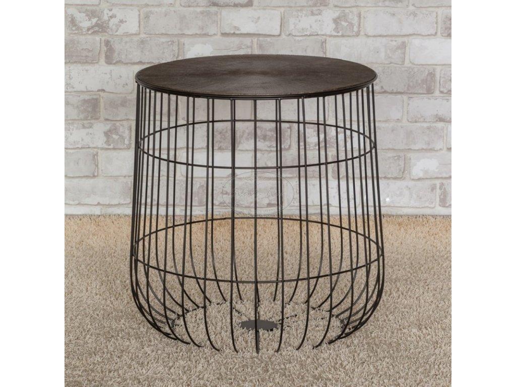Kovový stolek BASKET NORDIC