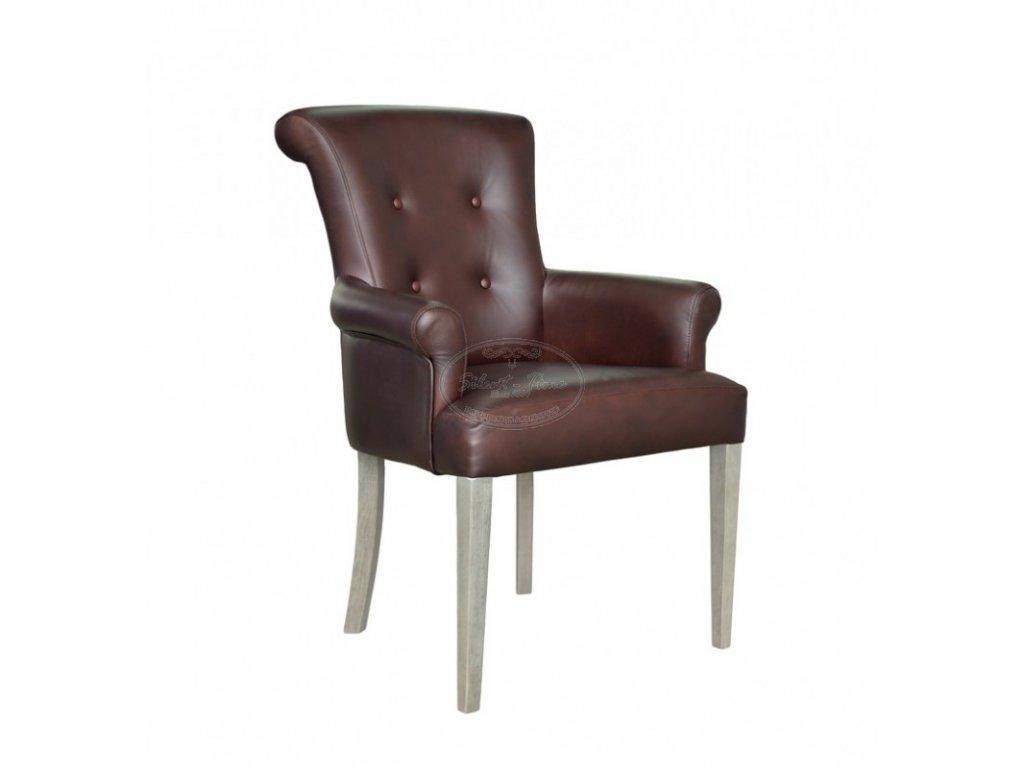 Židle s opěrkami kožená ML7159