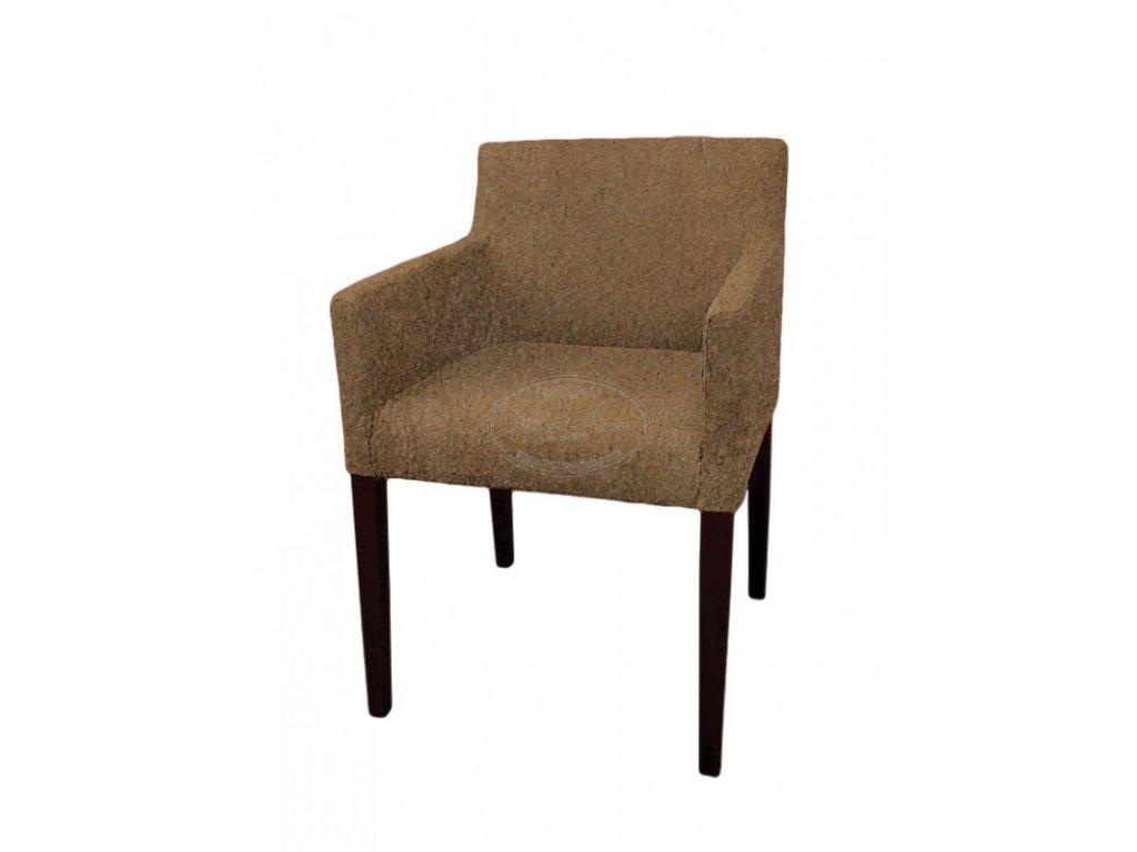 Židle s opěrkami kožená ML7820
