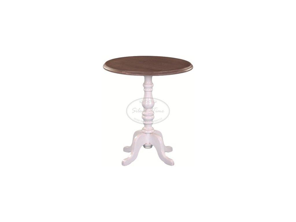 Odkládací kulatý stolek dřevěný TL1239
