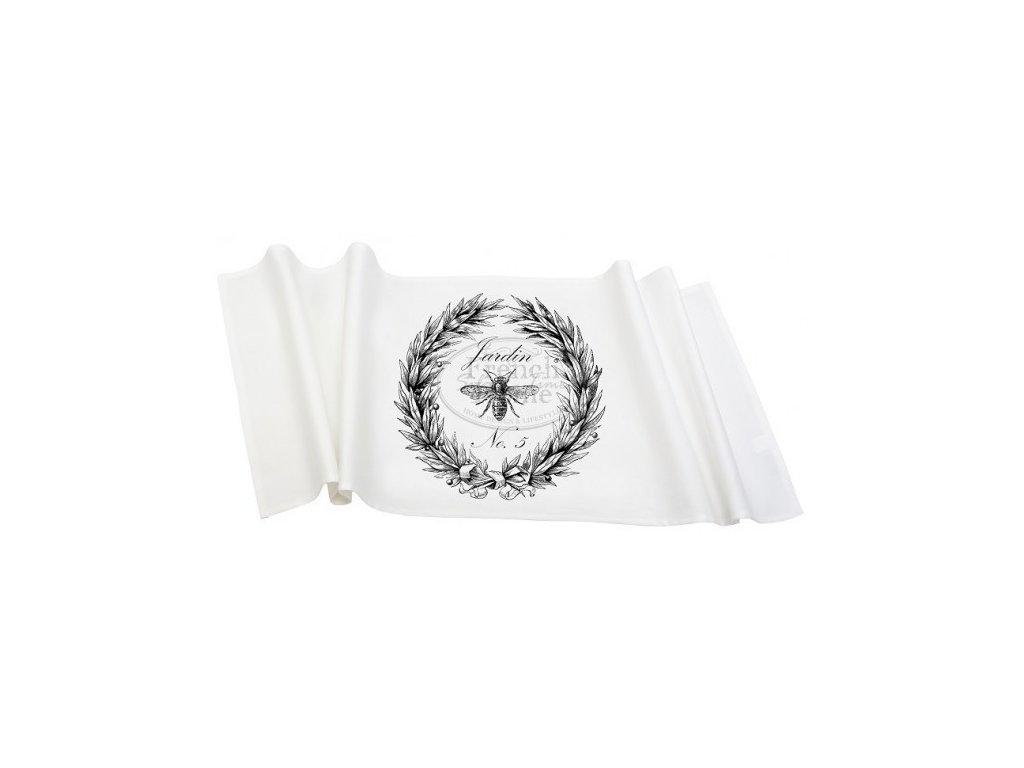 Ubrus běhoun JARDIN WHITE