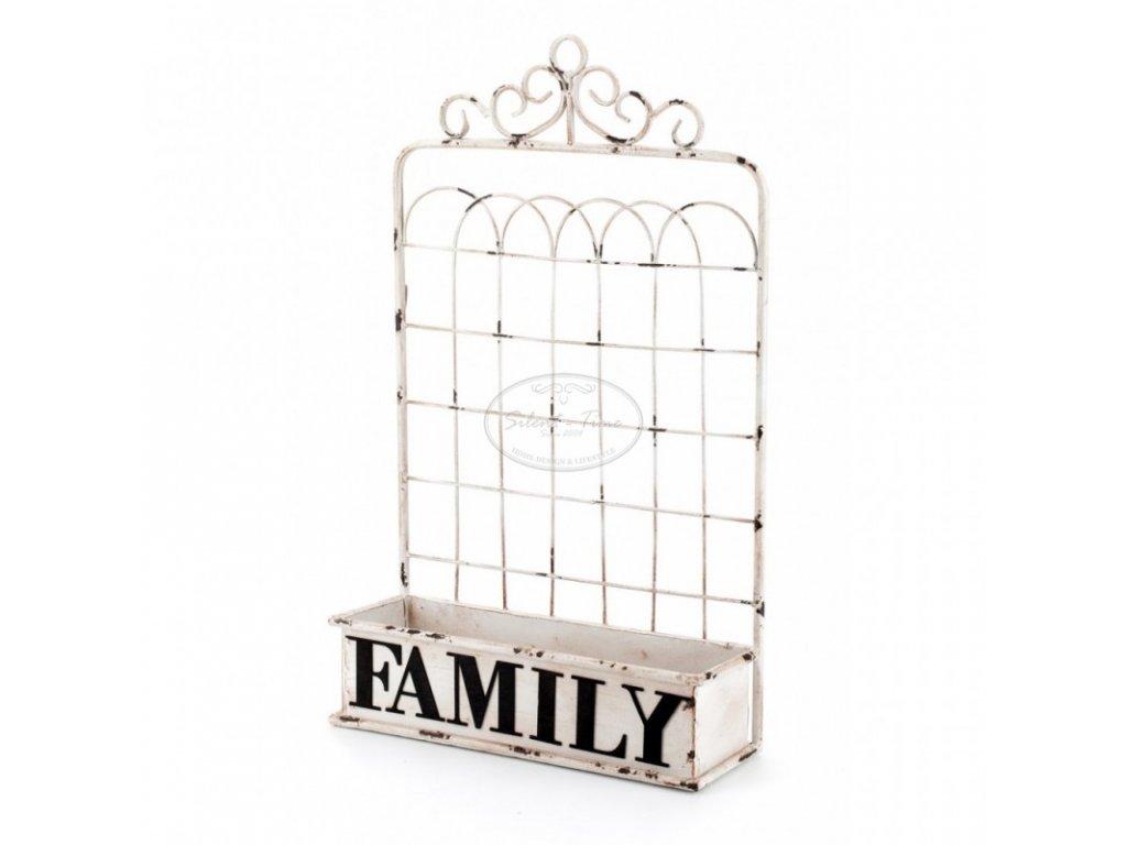 Kovová police závěsná FAMILY