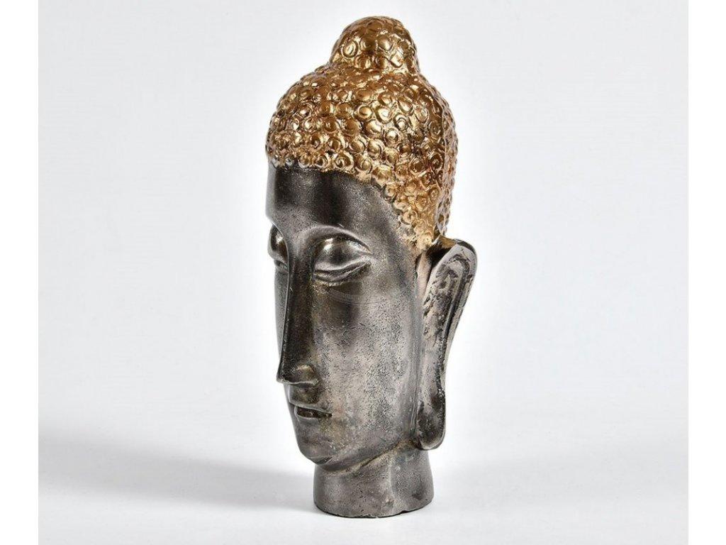 Soška hlava BUDHA kov