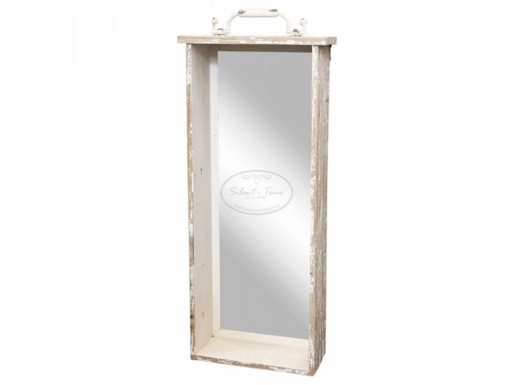 Nástěnné zrcadlo s háčky CHIC ANTIQUE