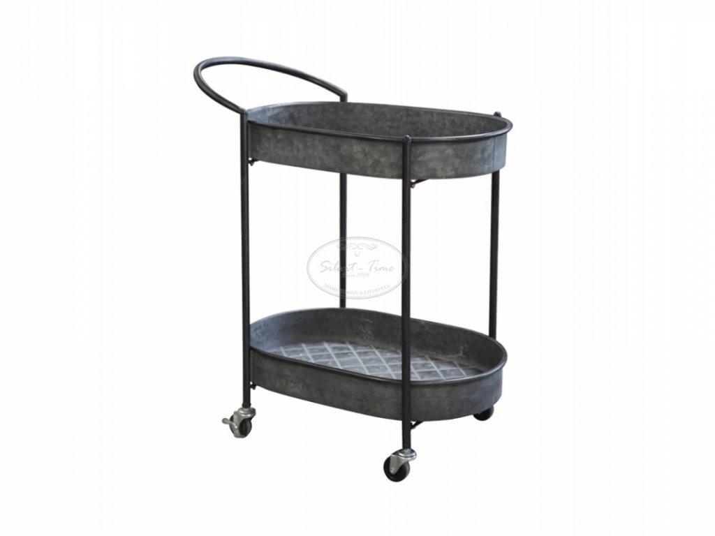 Kovový stolek pojízdný CHIC ANTIQUERE
