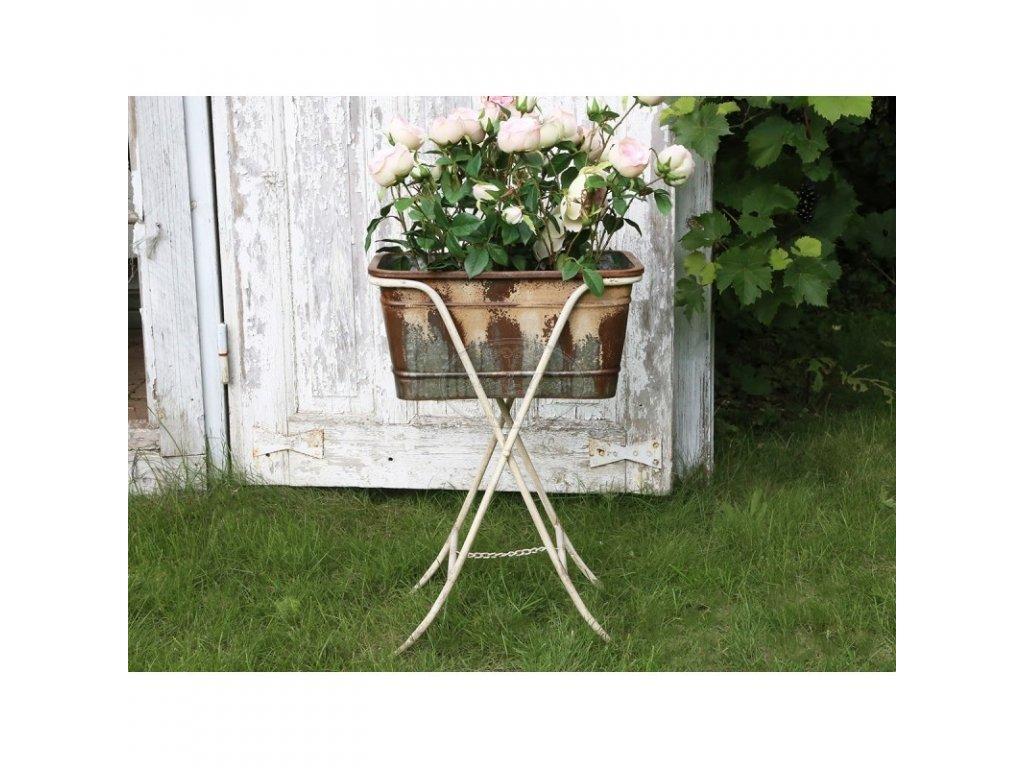 Kovový stolek květinový CHIC ANTIQUE 2