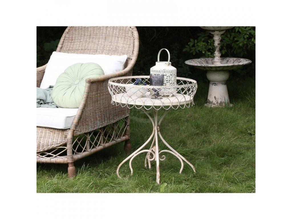 Kovový stolek květinový CHIC ANTIQUE 1