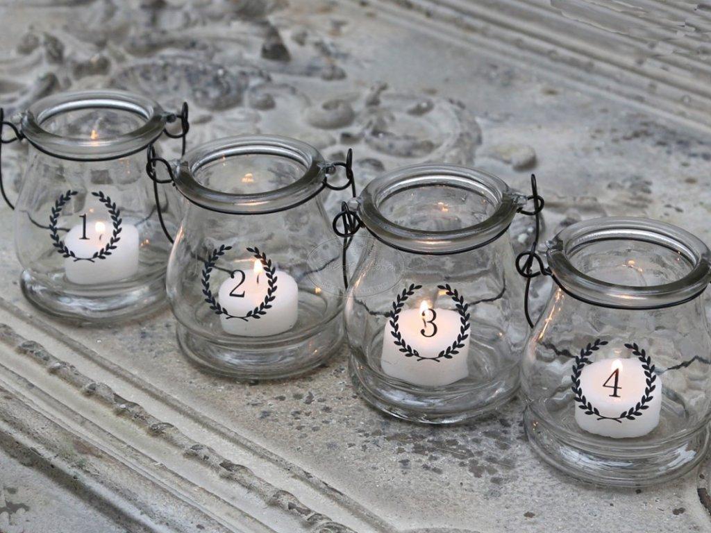 Adventní svícny skleněné CHIC