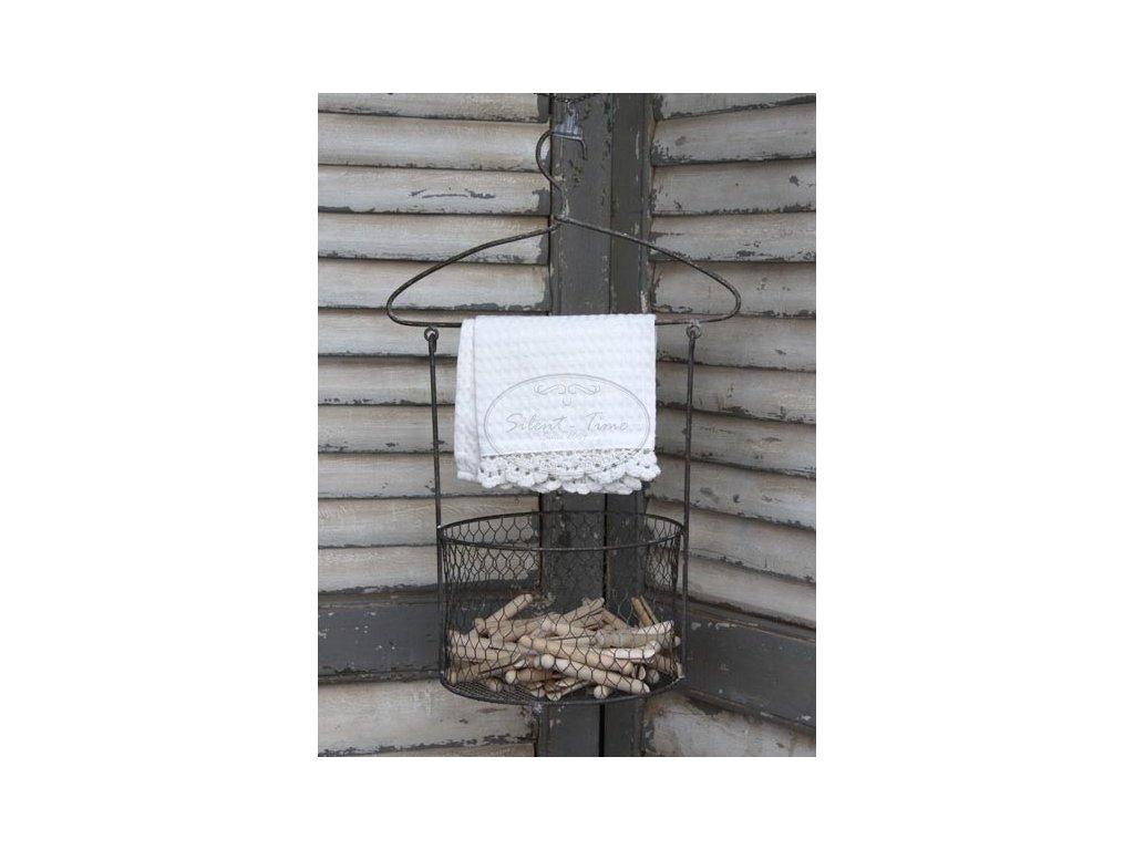 Drátěný košík na kolíčky CHIC ANTIQUE