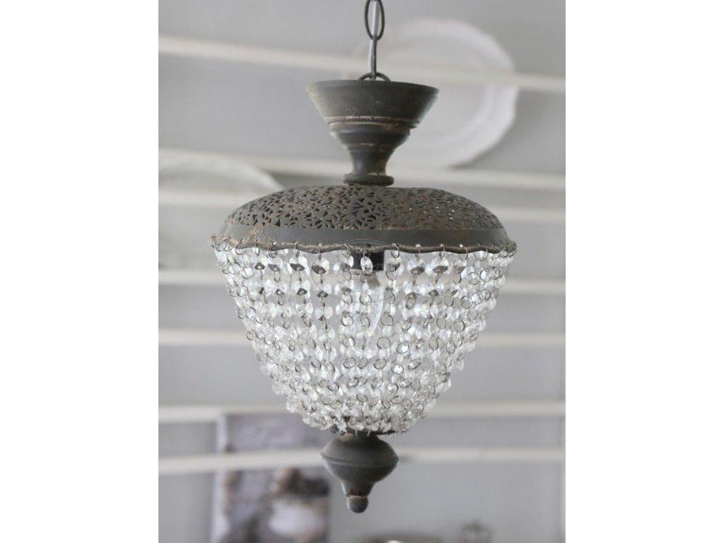 Starožitný lustr Chic Antique grey