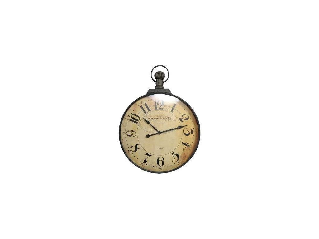 Kovové hodiny VINTAGE GREY