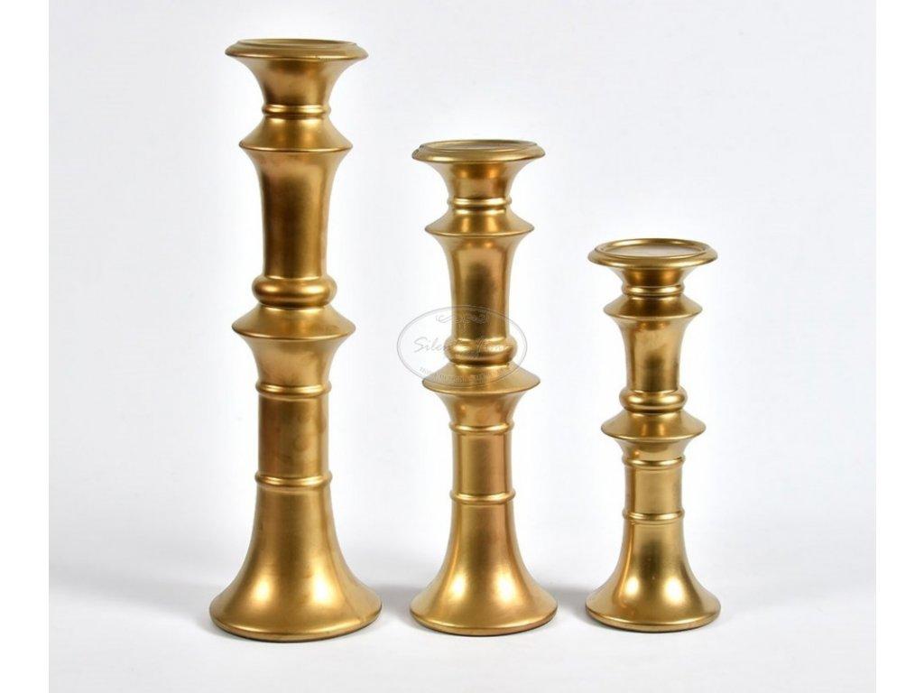 Kovový svícen  GOLD LINE 3