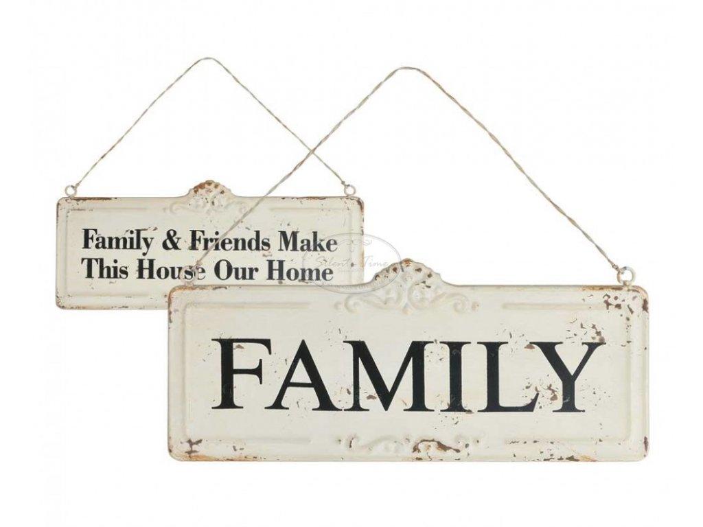 Plechová cedule Family