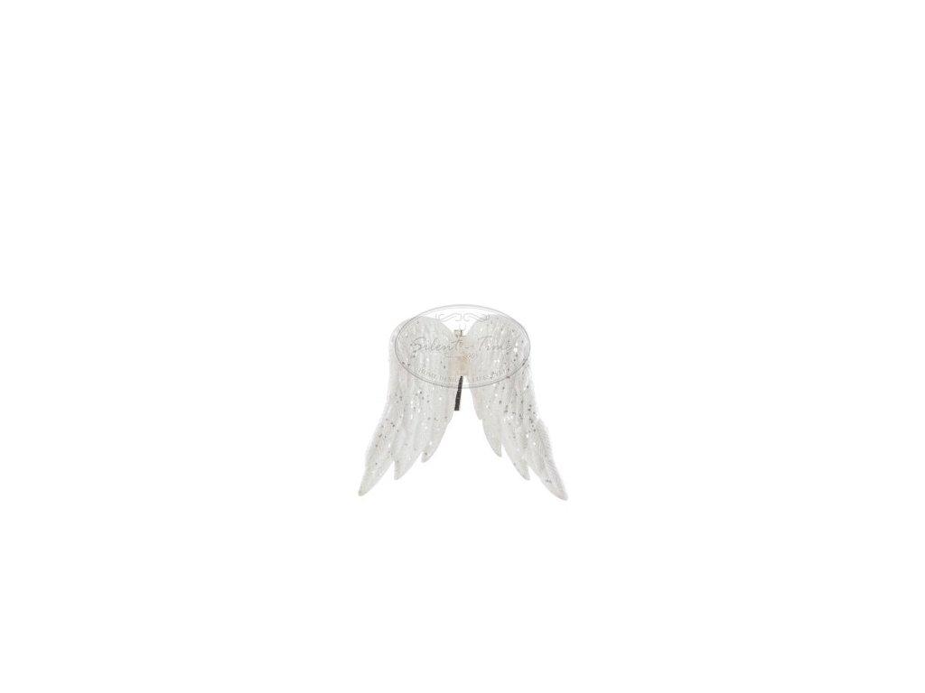 Andělská křídla bílá s flitry