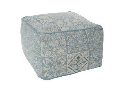 Tkaný sedák - puf CHENILLE ICE BLUE