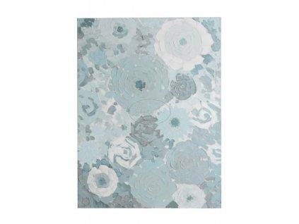 Obraz FLOWERS ABSTRACK BLUE