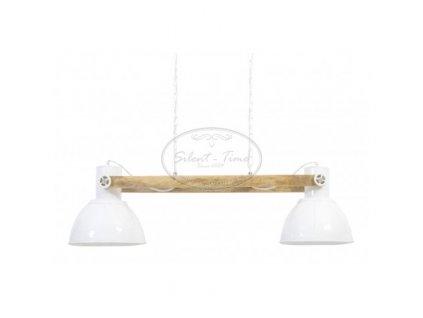 Lustr dřevěný ELAY NATUR-WHITE