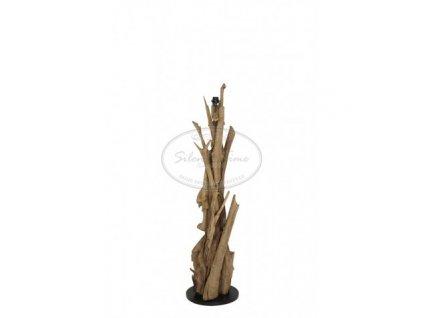 Stojací lampa dřevěná VIDIN WOOD