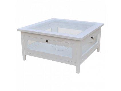 Konferenční stolek dřevěný - prosklený PS-71