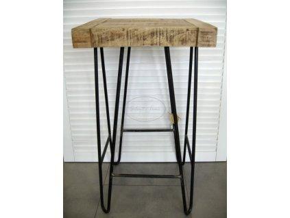 Dřevěný vysoký stolek Mango