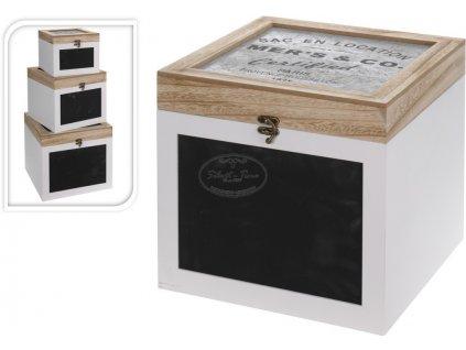 Dřevěná krabice s tabulí