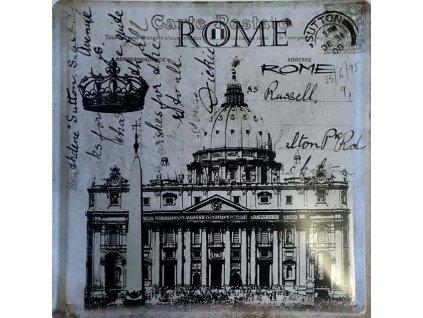 Plechová cedule Rome