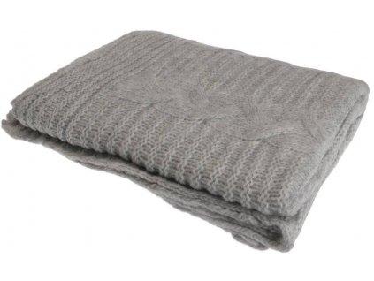 Pletená deka šedá