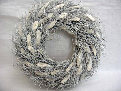 Vánoční věnec větvičkový 20 cm
