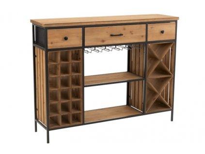 Dřevěný bar s vinotékou IDER