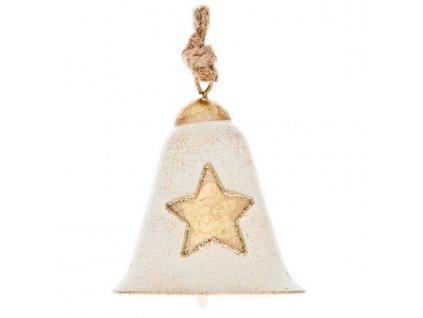 Kovový zvoneček s hvězdou