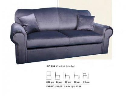 Rozkládací kožená sedačka ML799