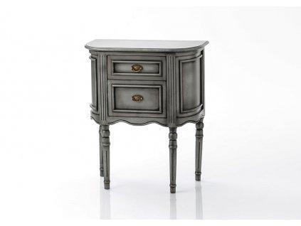 Noční stolek MEDAILLON SILVER