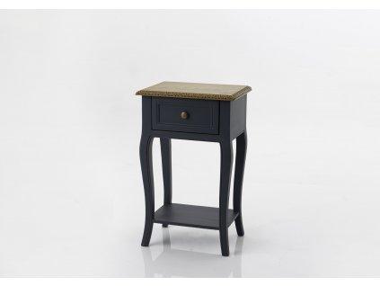 Noční stolek SEINE DARK BLUE