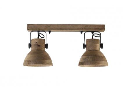 Nástěnná lampa dřevěná ILANIO 2