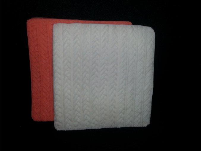 Silikonová formička pletený vzor 5116