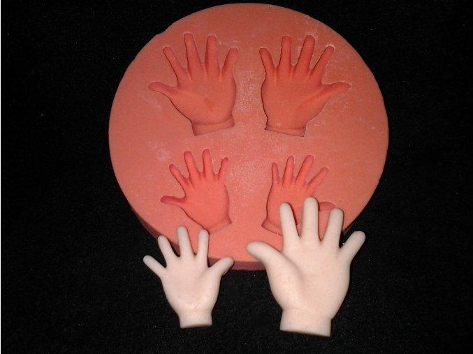 Silikonová formička dětské ručičky 2047