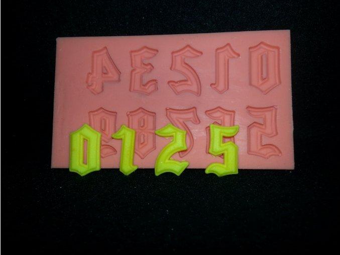 Silikonová formička číslice gotické 6008