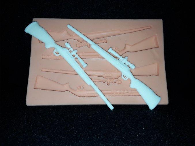 Silikonová formička lovecké pušky 5128