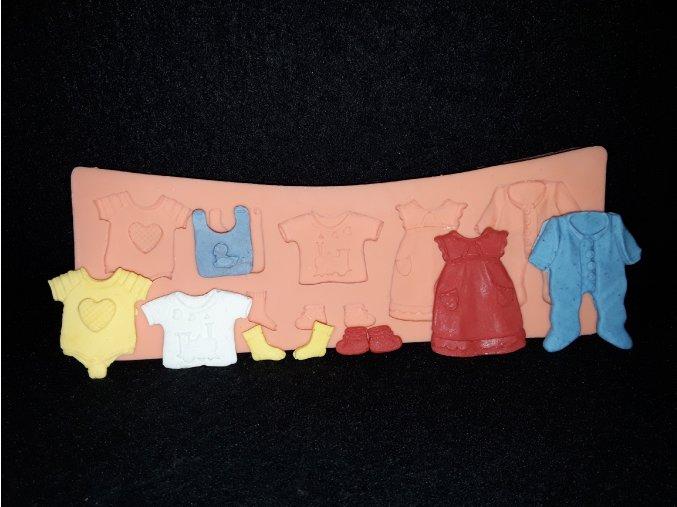 Silikonová formička dětské oblečky 5137