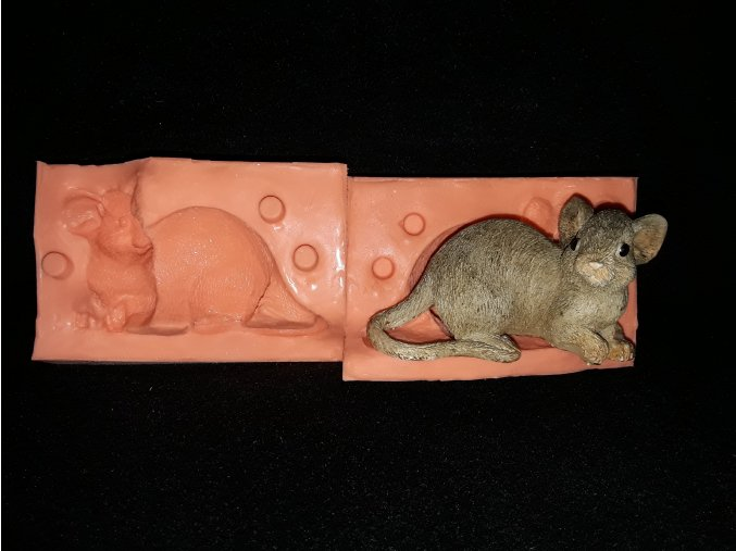 Silikonová formička myš velká 3036