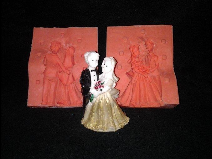 Silikonová formička tančící ženich a nevěsta 3037