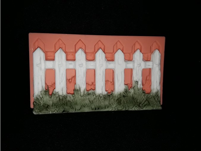 Silikonová formička plot s trávou 5149